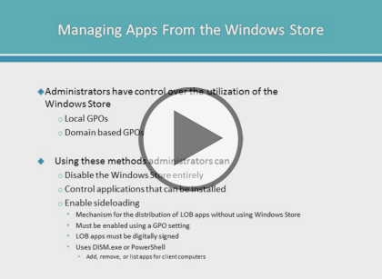 Configuring Windows Devices, Part 6 of 8: Managing Apps and Securing Trailer